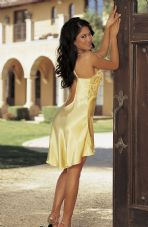 Luxurious Charmeuse Buttercup Chemise